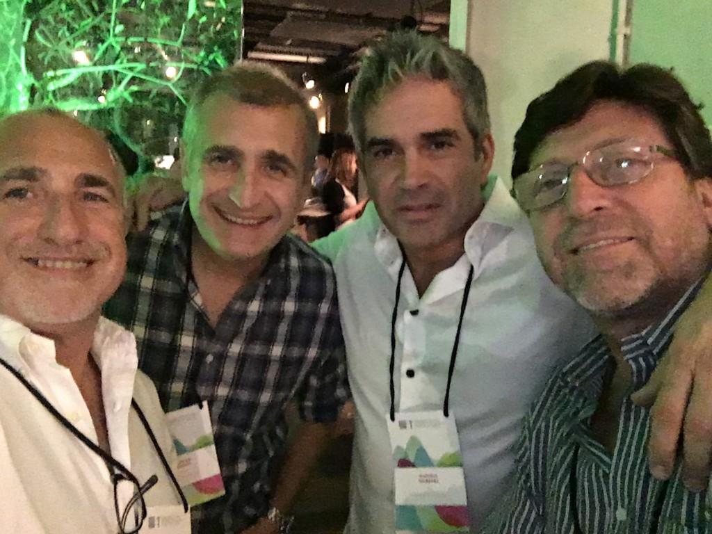 Gonzalo Suárez, CEO DAN Uruguay, MArcelo Delbarba, CEO DAN Argentina, ALVARO SUárez, CEO Carat Uruguay, Iván Poizarski, CEO DAN Chile